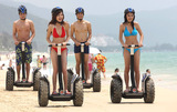 Beach Segway on Yalong bay Sanya Hainan